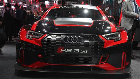 audi race car audi sport unveils rs3 lms race car