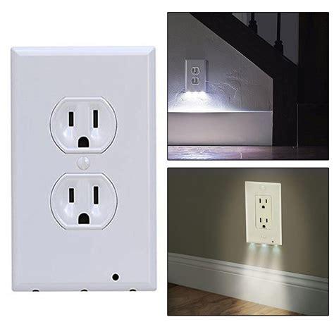 2in1 duplex bathroom light sensor led plug cover