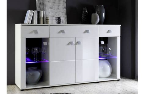 les concepteurs artistiques meuble bas blanc laque pas cher