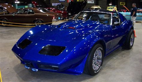 1974 chevrolet blue corvette stingray fully customized