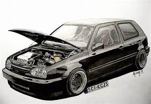 Volkswagen Golf Mk3 Vr6 Drawing By Hary1908 On Deviantart