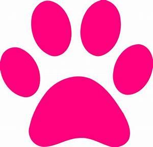 Paw Print Pink Clip Art at Clker.com - vector clip art ...