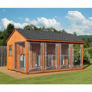 11 best images about dog kennels on pinterest 10 for Amish dog kennel plans