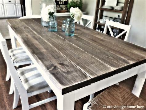 vintage home love dining room table tutorial
