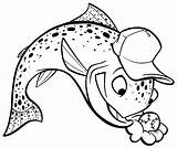 Trout Cartoon Mike Outline Baseball Drawing Clipart Outlines Drawings Fish Getdrawings Clip Library Catching Clipartmag sketch template