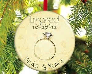 engaged christmas ornament engagement christmas gift