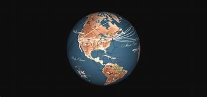 Globe 3d Map Trans Maps Maker Routes