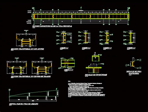 details  metal beam bridge dwg detail  autocad