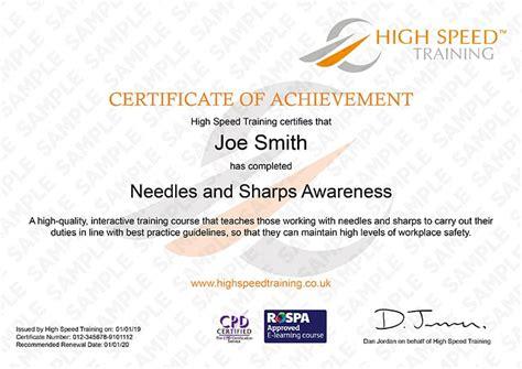 needles sharps training   high speed