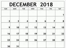 Printable Calendar December 2018 Pdf – Business Calendar