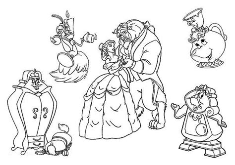 Beauty And The Beast Rose Coloring Pages Pict 86322