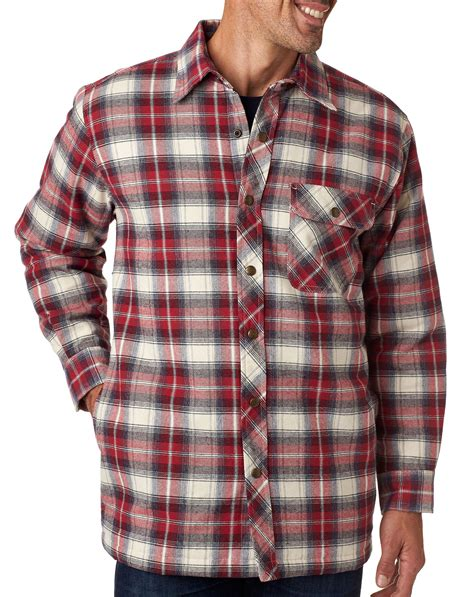 flannel shirt jacket with quilted lining design backpacker mens flannel jacket with quilt lining