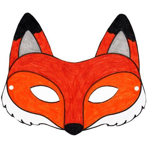 chambre grand format masque de renard à imprimer