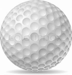 Traditional golf ball vector illustration. | Stock Vector ...