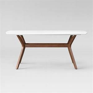 """Emmond Mid Century 72"""" Dining Table White & Brown"""