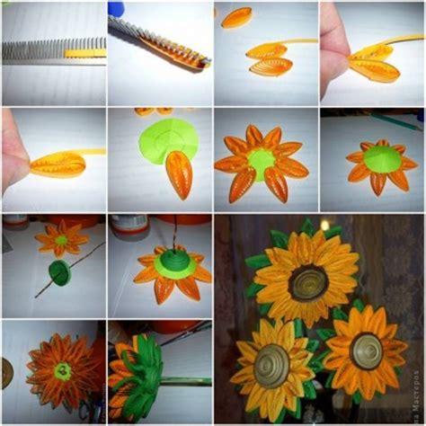 quilling sunflower step  step diy tutorial