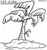Island Coloring Colorings sketch template