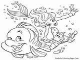 Coloring Ocean Pages Sea Printable Under Print Disney Animal Mermaid Little Sheets Animals Adult Fish Realistic Sheet Themed Shell Blender sketch template