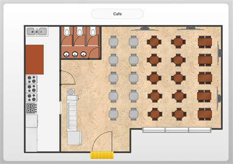 Floor Layout Of An Cafe by Conceptdraw Sles Floor Plan And Landscape Design