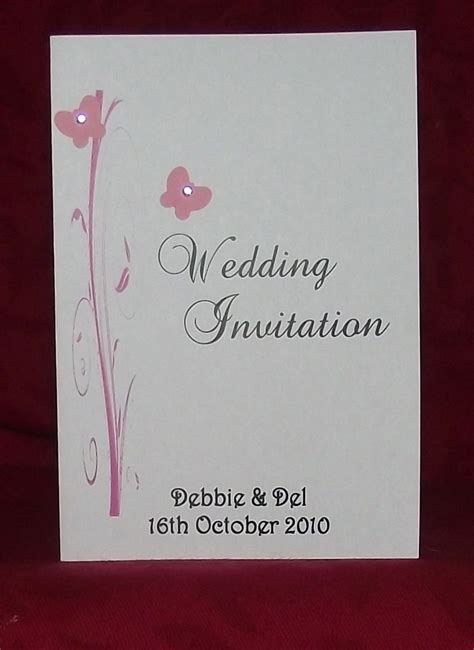 wedding invitation stationery personalised butterfly