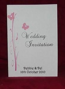 wedding invitation stationery personalised butterfly With a6 size wedding invitations
