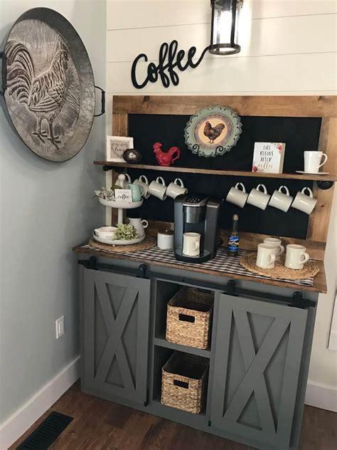 coffee bar barn door console ana white