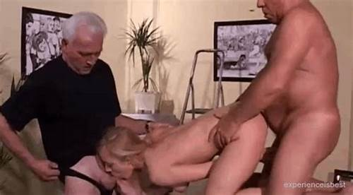 Grandpa Pounds A Teen Hottie Outdoors On The Balcony