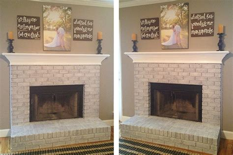 whitewashing a fireplace our fireplace is white washed
