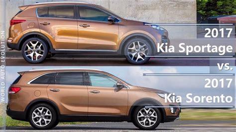 Kia Sportage Vs Sorento 2017 kia sportage vs 2017 kia sorento technical
