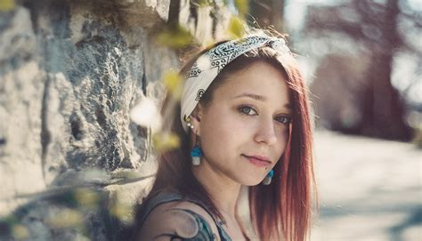 women redhead tattoos   viewer head band piercing  wall wallpapers hd