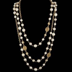 chanel extra long metal sautoir necklace with baroque With sautoir