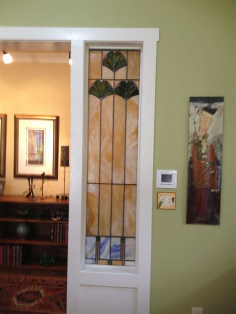 stained glass dividers contemporary living room