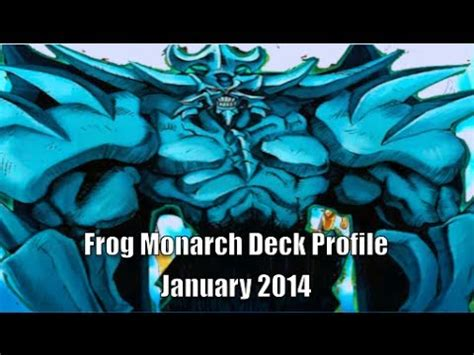 yugioh frog monarch deck profile january 2014 1st place