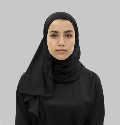 wrap sports hijab black thawrih