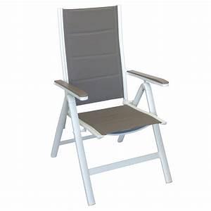Gartenstühle Alu Klappbar : aluminium hochlehner gartenstuhl klappstuhl gepolsterte ~ Lateststills.com Haus und Dekorationen