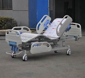 Folding Hospital Icu Bed   Manual Ward Beds With Abs Side