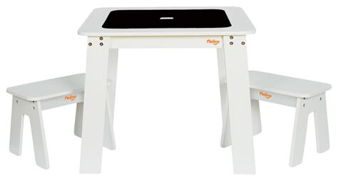 Pkolino Chalk Table And Chairs Uk by P Kolino Chalk Table And 2 Benches White Contemporary
