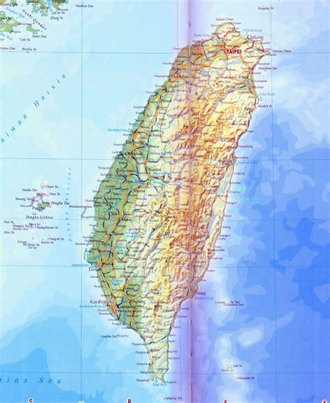 taiwan map   detailed map  taiwan taiwan