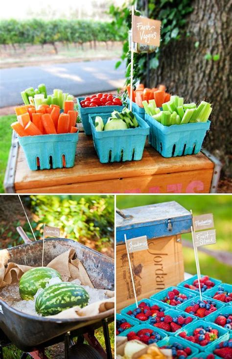 Backyard Bbq Decoration Ideas by Backyard Idea Birthday Farmers Market Inspired