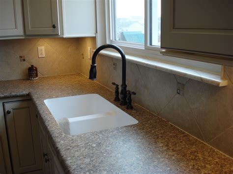 Tile Backsplash With Laminate Countertop by 12 Quot X 12 Quot Tile Backsplash With Inserts Edge Sink