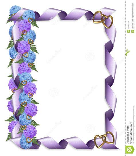 floral border hydrangeas  ribbon stock images image