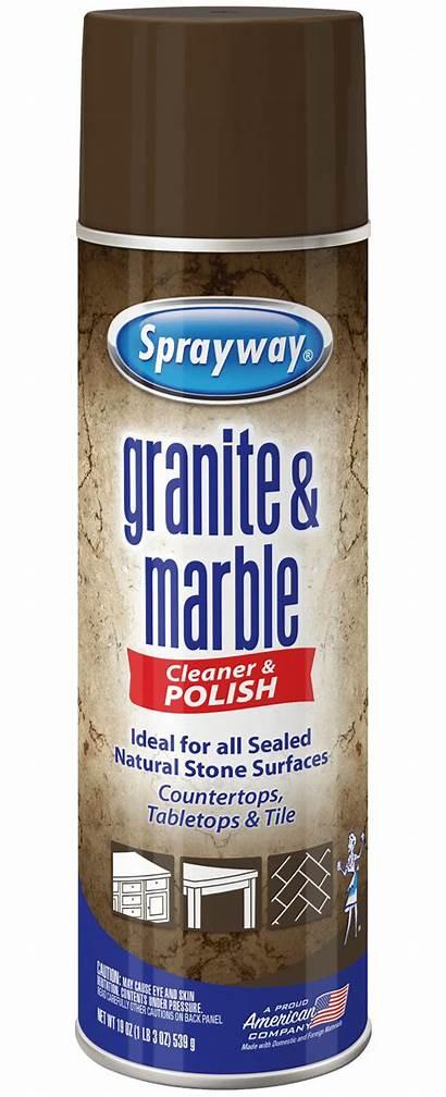 Granite Cleaner Marble Spray Sprayway Aerosol Cleaning