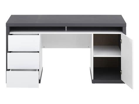 bureau gris blanc bureau bicolore blanc et gris avec rangements igor ii
