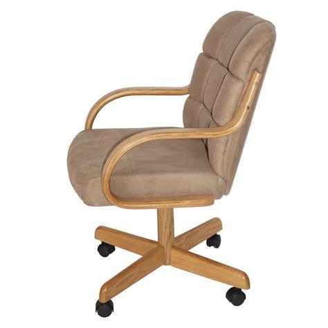 davila mid  dining caster chair  arms wayfair