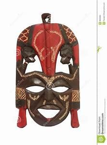 Kenyan Masai Mask Stock Photo