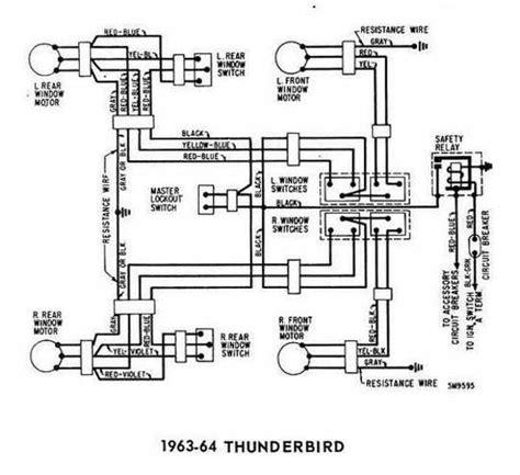 Ford Thunderbird Windows Control Wiring Diagram