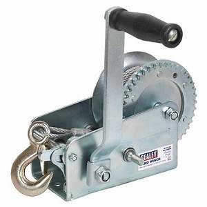 Sealey Geared Hand Winch 900kg Capacity With Cable Winches