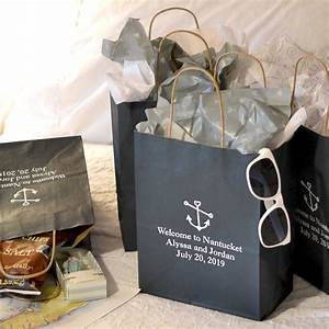 paper wedding hotel room gift bags personalized my With wedding gift bag ideas