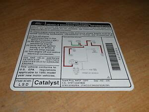 ford explorer   engine emissions decal ebay