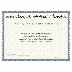 Employee Certificate Templates Free Employee Of The Month Award